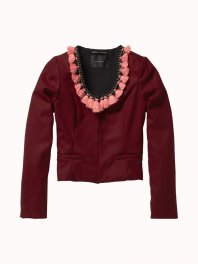 Maison Scotch Wool Party Elements Plum