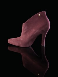 Melissa Drama Burgundy Flocked