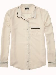 Maison Scotch Pyjama Inspired Shirt Off White