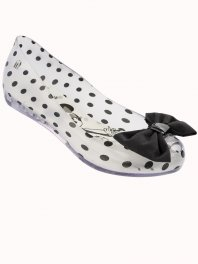 Melissa Ultragirl + Minnie Clear Black White