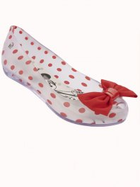 Melissa Ultragirl + Minnie Clear Red White