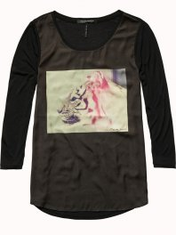 Maison Scotch Photo print top Combo R