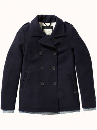 Maison Scotch - Wool blend peacoat Navy