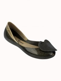 Melissa VVivienne Westwood Anglomania + Melissa Queen Black glitter