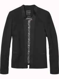 Maison Scotch Clean tuxedo blazer Black