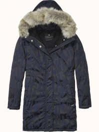 Maison Scotch Down filled technical winter jacket with hood Combo A