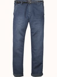 Maison Scotch New fit chino jogger in garment dyed felpa quality Combo A