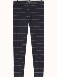 Maison Scotch - Super soft tailored pant in checks and stripes..