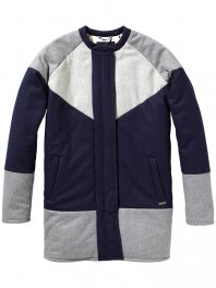 Maison Scotch - Cocoon patchwork coat Combo A
