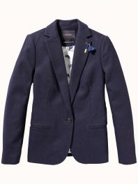 Maison Scotch Classic wool blazer Navy