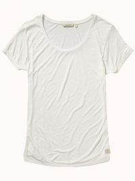 Maison Scotch Home Alone short sleeve tee in special jersey Vintage white