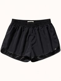 Maison Scotch Home Alone silk mix underwear shorts Black