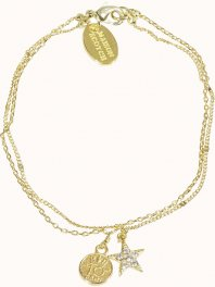 Maison Scotch Delicate double layer bracelet Combo B