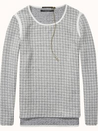 Maison Scotch Jacquard sweat with zip detail Combo D