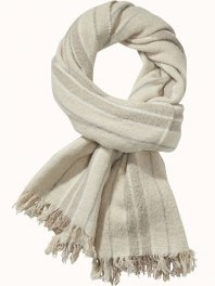 Maison Scotch Large wool striped blanket scarf Combo B