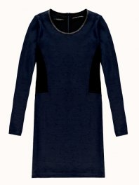 Maison Scotch Fitted dress in structured stretch quality Night melange