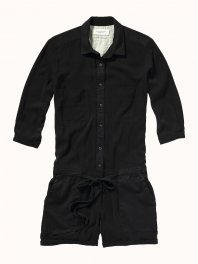 Maison Scotch Oversized all-in-one in drapy tencel-mix quality Black