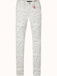 Maison Scotch 'Bohemienne' fit skinny pants in sateen quality, sold in various dessins Combo A