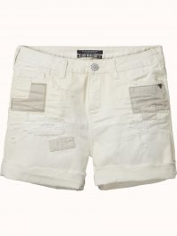 Maison Scotch Medium length boyfriend fit shorts  Vintage white
