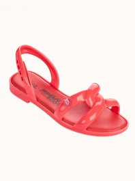 Melissa  Melissa Tube Sandal + Jeremy Scott Neon Orange