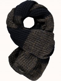 Maison Scotch Wooly mele knitted scarf Military Green Mele