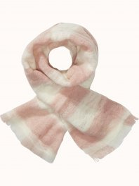 Maison Scotch Fluffy checked wool scarf Blossom