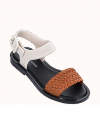 Melissa Mar Sandal + Salinas Orange / Black
