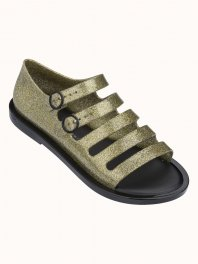 Melissa Broadway Gold glitter/Black