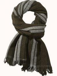 Maison Scotch Large wool striped blanket scarf Combo A