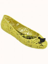 Melissa Vivienne Westwood Anglomania + Melissa Scribble Tartan  Neon yellow