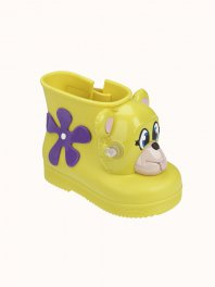 Melissa Mini Melissa Monkey Boot + Jeremy Scott Neon Yellow