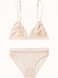 Maison Scotch Sexy lace lingerie, sold in a canvas bag Blush