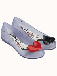 Melissa Mel Ultragirl + Alice In Wonderland Inf Clear/Black/Red