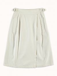 G.o.D. W-Worker Skirt Cotton Twill White