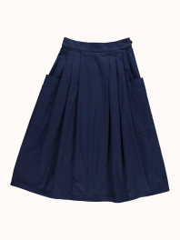 G.o.D. W-Apron Skirt Light Cotton Drill Indigo