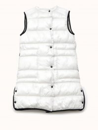 ECOALF Karol Long Vest Off white