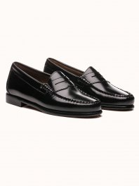 G.H. BASS & CO. WEEJUNS Penny Loafers Black Leather