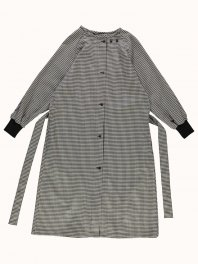 G.o.D. W-Military Robe Vichy Wool Black/Off white