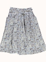 G.o.D. W-Prairy Skirt Fela Cotton Blue