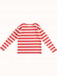 G.o.D. W-Sailor T Ls Red Stripe Off white/Red
