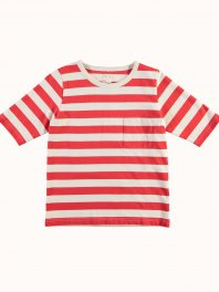 G.o.D. W-Sailor T Ss Red Stripe Off white/Red