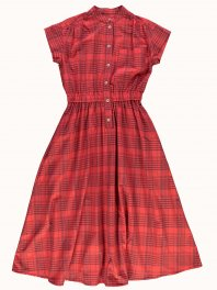 G.o.D. W-Service Dress Masai Check Red