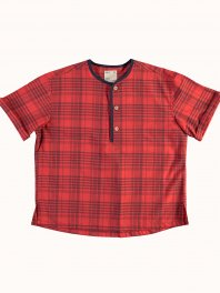 G.o.D. W-Baseball Smock Masai Check Red